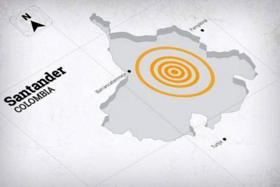 Fuerte sismo se sintió este lunes en Santander