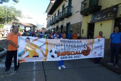 Iniciaron las olimpiadas especiales en San Gil