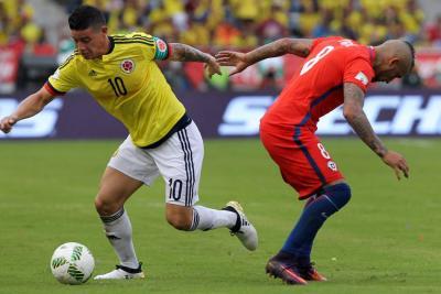 Selección Colombia, favorecida por fallo que quitó puntos a Chile