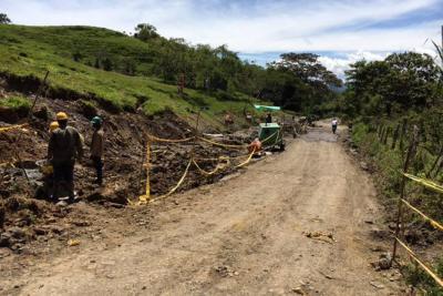 En un 59% avanzan obras del corredor Agroforestal