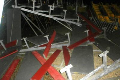 El colapso de una tribuna en circo de Caldas dejó 37 heridos
