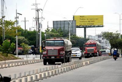 Restringen tránsito de carros pesados por vías principales de Barrancabermeja