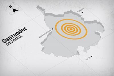 Fuerte sismo se sintió el pasado martes en Santander y el oriente