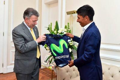 Nairo Quintana habló con el presidente Santos sobre ajuste del presupuesto al deporte