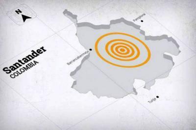 Un sismo sacudió el sur de Santander