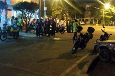Así fue la balacera que dejó heridos a un policía y un ciudadano en Bucaramanga