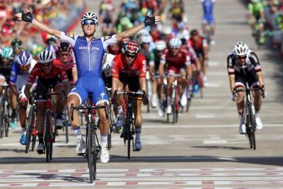 Victoria de Trentin previo a etapa de riesgo en la Vuelta