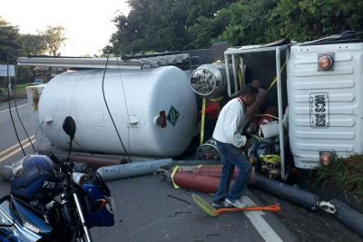 Conductor resultó herido tras accidente de tránsito en Santander