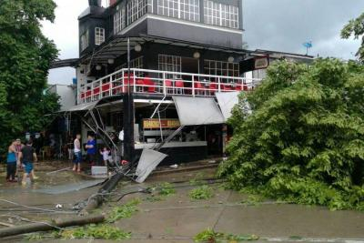 Aguacero ocasionó treinta emergencias en Piedecuesta
