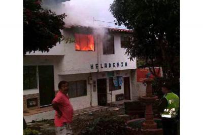 Conato de incendio en hogar de paso