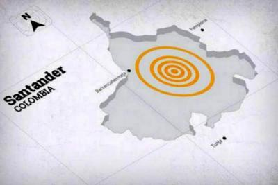 Fuerte temblor se sintió este lunes en Bucaramanga