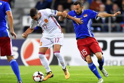 Triunfo de España 8-0 ante el Liechtenstein