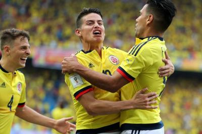 ¿Cuántos puntos separan a Colombia de Rusia 2018?