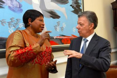 Santos se reunió con Fiscal de la Corte Penal Internacional