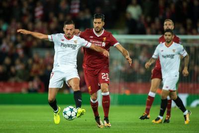 Con Luis Muriel en la cancha, El Sevilla empató 2-2 ante Liverpool