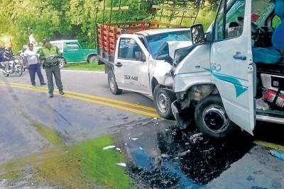Accidente de tránsito dejó seis personas heridas en Santander