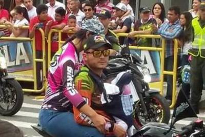 Pareja de motociclistas puso en riesgo la vida de un menor en Bucaramanga