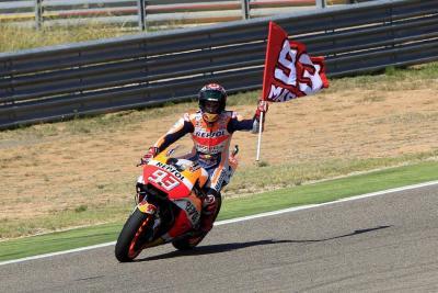 Pleno español en el podio de MotoGP