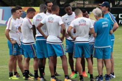 Colombia realizó su primer entrenamiento previo al partido contra Paraguay