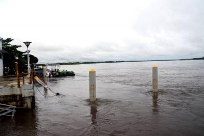 Lanzan alerta por alto nivel del río Magdalena en Santander