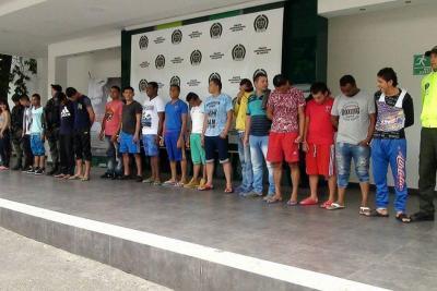 Capturan a 18 integrantes del 'Clan del Golfo' en Cúcuta
