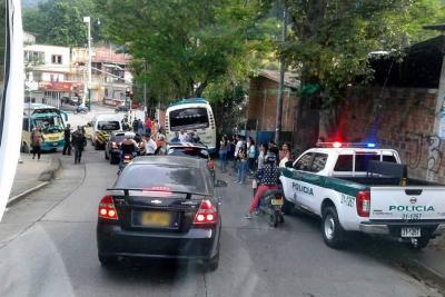 Bus sin frenos causó pánico en Floridablanca