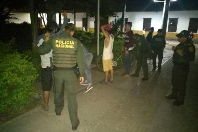 Operativo de la Policía en La Cantera en Piedecuesta dejó 10 detenidos