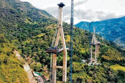 Puente atirantado Hisgaura presenta un 50% de avance