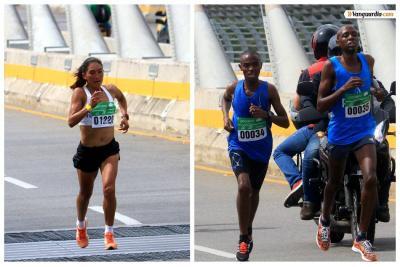 Un keniano y una ecuatoriana se impusieron en el ¼ de Maratón de Bucaramanga