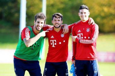 James se reincorporó a entrenamientos con el Bayern Múnich