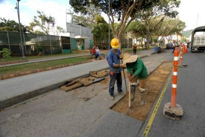 Arrancaron obras para la ciclorruta en Bucaramanga