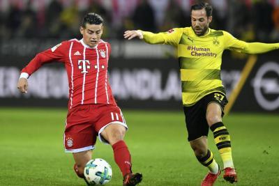 El Bayern, con James, superó al Dortmund