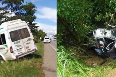 Dos accidentes de tránsito ocurrieron este domingo en las vías de Santander