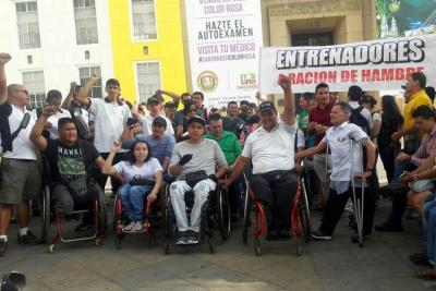 Deportistas de Santander protestaron nuevamente ante la Gobernación