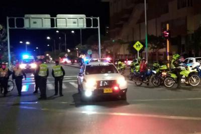 Dos heridos dejó persecución de 'película' en Bucaramanga