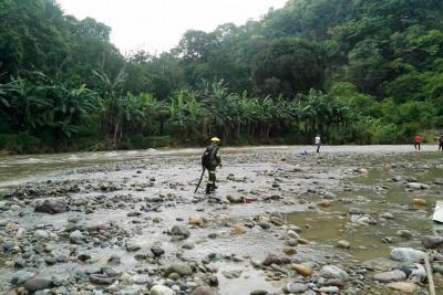 Continúa búsqueda de un menor de 5 años desaparecido en río Suratá
