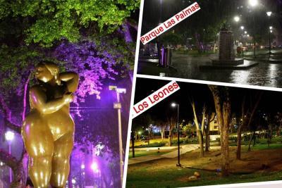 Esto es lo que ocurre durante la noche en los parques de Bucaramanga