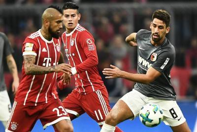 Con James de titular, Bayern le ganó 3-0 al Augsburgo