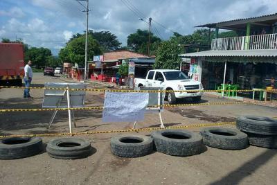 Campos 23 y 25 se sumaron a protesta por vías en Barrancabermeja