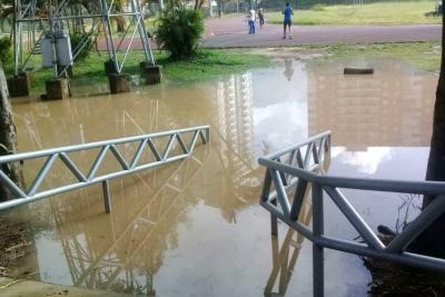 Se inundó de nuevo el estadio de atletismo de Bucaramanga