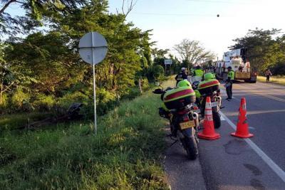 Accidente vial deja 3 personas muertas