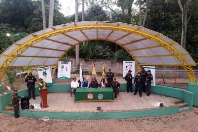 Policía lideró la recuperación del Parque Artístico Paragüitas