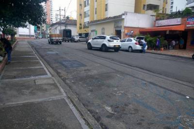 Borran señalización de otra 'Zona Azul' en Bucaramanga