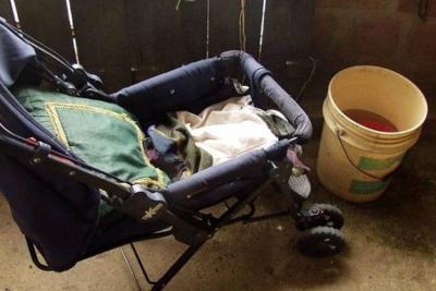 Encuentran recién nacida abandonada en bolsa en un paradero de bus