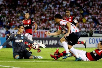Junior quedó eliminado de la Copa Sudamericana luego de perder con Flamengo