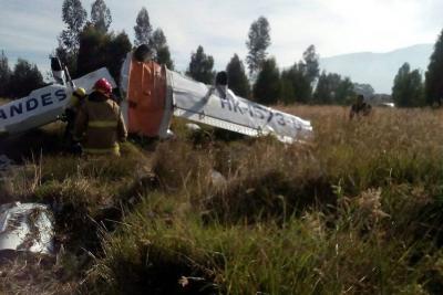 Dos muertos tras accidente de avioneta en Cundinamarca
