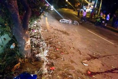 Motociclista perdió la vida en Santander luego de chocar contra un árbol