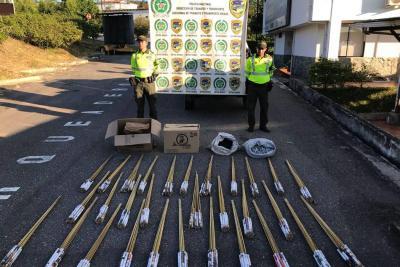 Policía incautó 200 kilos de pólvora en Bucaramanga