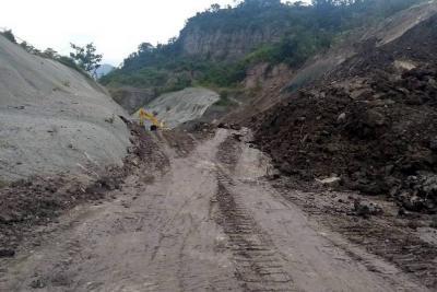 Historia de los derrumbes en la vía entre Bucaramanga y Barrancabermeja
