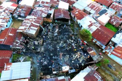 Pánico en Puerto Berrío por incendio en el Oasis